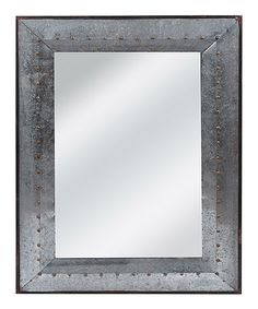 Love this Rivet Design Galvanized Mirror on #zulily! #zulilyfinds