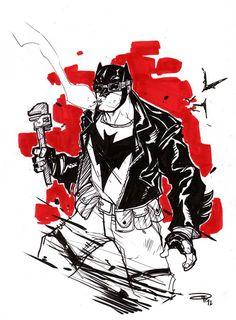 50's Greaser Batman/ Dark Knight