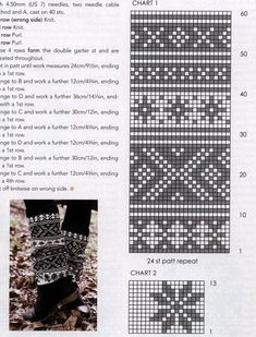 56 Super Ideas For Knitting Socks Cat Boot Cuffs Fair Isle Knitting Patterns, Fair Isle Pattern, Crochet Stitches Patterns, Knitting Charts, Crochet Socks, Knitting Socks, Fair Isle Chart, Cross Stitch Baby, Tapestry Crochet