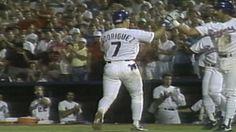 MLB (8/30/1991): Iván Rodríguez's (Texas Rangers) 1st Home Run (2-Run HR) of 1991 Season (1st MLB Career Home Run) @ Arlington Stadium, Texas Rangers. (Video)