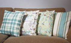 pillow covers by Little Green Bow