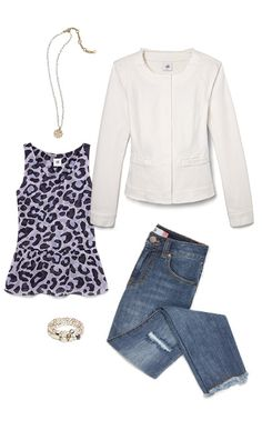 Check out five unique ways to mix and match the Feline Blouse with other cabi items!