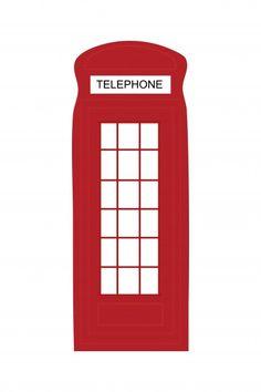 London Telephone Box Clipart