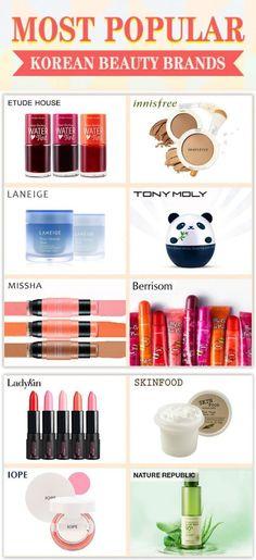 Just an FYI popular brands in Korea. #Koreanmakeuptutorials