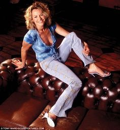 So then Kate Humble, you'd never consider showing your cleavage like TV autocuties? We uncover Countryfile host's daring shots from 2003 Kate Humble, Self Styled, Low Cut Dresses, Uk Tv, Tv Presenters, Plunging Neckline, Poses, Celebrities, Lady