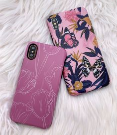 New to the family 💕🦋🌷 Tulips & Jardin Case for iPhone. Available for iPhone XS / X, iPhone XS Max, iPhone XR & iPhone 8 Plus from Elemental Cases Girl Phone Cases, Cute Phone Cases, Iphone Phone Cases, Phone Covers, Iphone Comparison, Iphone Secrets, Phone Accesories, Buy Iphone, Unlock Iphone