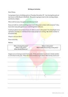English worksheet invitation cards making invitations pinterest writing an invitation stopboris Image collections