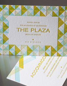 Shoreline affordable wedding invitations Letterpress Wedding Invitations