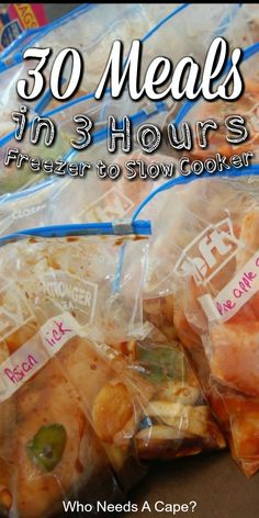 You simply need to make 30 Summer Freezer Meals in 3 hours! Prep bag freeze & slow cook your way to easy mealtimes! Arent crockpots the best? Healthy Crockpot Recipes, Snack Recipes, Dinner Recipes, Easy Recipes, Ramen Recipes, Cod Recipes, Noodle Recipes, Potato Recipes, Delicious Recipes
