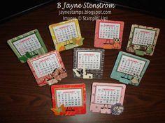 ~ ~ ~Jayne Stamps ~ ~ ~: Single Coaster Calendars