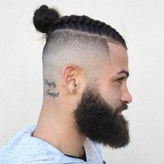 Long+Top+Shaved+Sides+Hair+Man+Bun