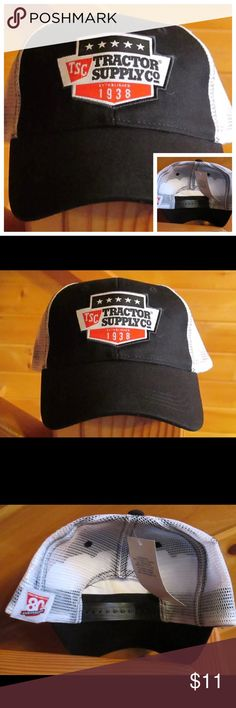 Tractor Supply Company SnapBack Hat Black White Tractor Supply Company SnapBack Hat Cap   NWT TSC Tractor Supply Co. Baseball Hat  80th Anniversary Adjustable back.    #SnapBack #Hat #Cap #Tractor #Farm #Anniversary #Clothes Accessories Hats