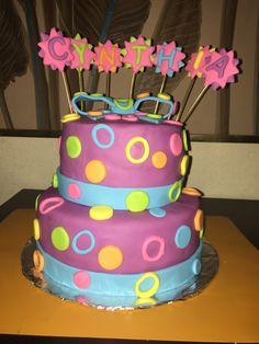 Bright color cake