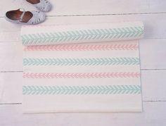 Simple Wei Mint Rosa Baumwolle Teppich skandinavischen von leedas auf Etsy