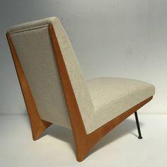 Stunning French 'Kangourou' Lounge Chair, Super Rare Model, 1950 image 6