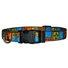 Tiki Print Dog Collar