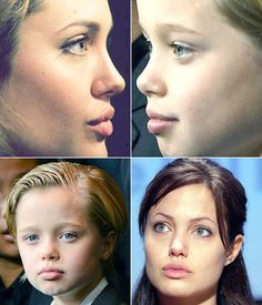 Angelina and her daughter Shiloh
