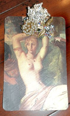 Vintage Jeweled Decorated Note Pads by marmarp on Etsy, $45.00
