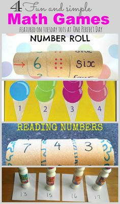 Fun and simple number recognition and counting games.