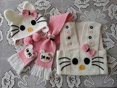 Hello kitty knitting