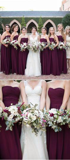long bridesmaid dresses,elegant bridesmaid dresses,wine bridesmaid ddresses,wedding party dresses