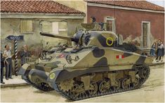 Sherman III DV (Early production - Initial production of the American M4A2 Sherman) in the streets of Naples