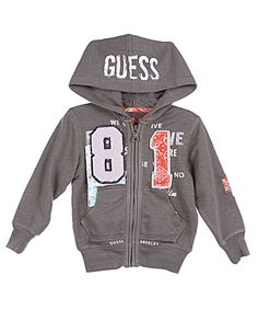 "Guess ""Downtown 81"" Hoodie: Here's a perfect sweat-shirt style hoodie for the boy with an urban attitude. Just $34.99 Shop CookiesKids.com"