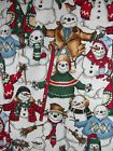 OOP SNOW FRIENDS SNOWMAN FLANNEL BY ALEXANDER HENRY ONE YARD (2 3/4 AVAILABLE) - #Friends, Alexander, available, Flannel, Henry, Snow, snowman, yard