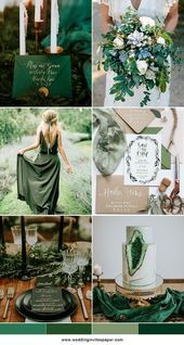 Gold Wedding Cakes 50 Prettiest Spring Wedding Color Inspirations for 2018 Trends - Wedding Invites Paper green wedding cakes/ rustic chic green wedding invitations/ gold glittery wedding invitations - Spring Wedding Colors, Fall Wedding, Dream Wedding, Wedding Colors Green, Emerald Wedding Colors, Wedding Ideas Green, Summer Wedding Themes, February Wedding Colors, Unique Wedding Colors