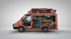 Zombie Survival Royal Mail Van
