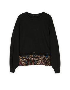Sweatshirt with jacquard hem - Sweatshirts | Stradivarius Ukraine