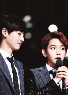 """baek-hysteria: """"I like to look at beautiful things which includes you, a beautiful being """""""