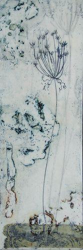 Burnt Lace - Encaustic by Linda Virio