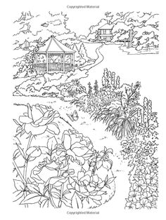 Welcome To Dover Publications Country Scenes Paint Or Color