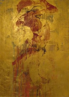 Large Painting, Figure Painting, Painting Inspiration, Art Inspo, Encaustic Art, Contemporary Abstract Art, Sacred Art, Gold Art, Japanese Art
