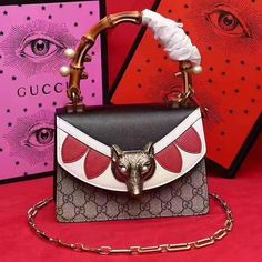 a877f74528 Gucci Lilith GG Canvas and Leather Small Top Bamboo Handle Bag 466428 2017  ] : Real Bag Sale