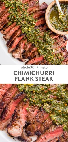 Recipes Snacks Clean Eating This chimichurri. Recipes Snacks Clean Eating This chimichurri flank steak is crazy flavorful, thanks to a perfect chimichurri sauce. Cooked medium rare inside on the skillet, the flank steak is super ten 30 recipes