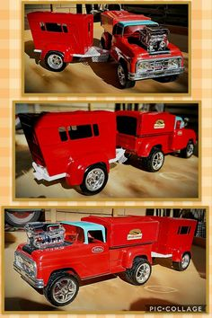 Tonka Trucks, Tonka Toys, Antique Toys, Vintage Toys, Metal Toys, Camper Trailers, Old Toys, Tractors, Monster Trucks