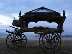 c1870's HORSE DRAWN HEARSE