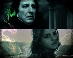 prettyserpentine:   The Light in the Dark.   I swear, Hermione and Severus were made for each other.  Aand I made this.~
