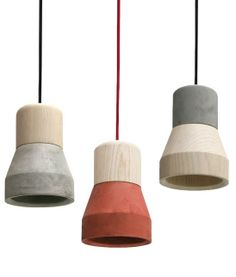#CEMENT WOOD LAMP by Specimen Editions | #design Decha Archjananun #concrete