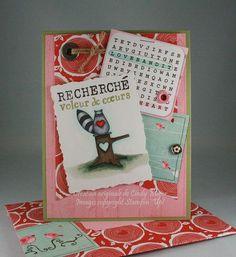 Love Bandit set and Hardwood background stamp by Stampin' Up! - Original design by Cindy Major