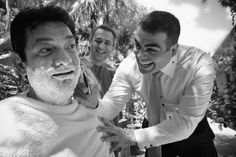 a greek tradition that the groom's men help the groom get ready