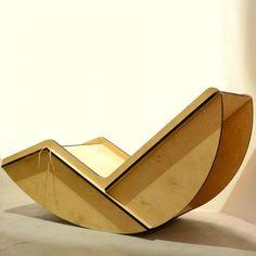 Pagliaro Rocking Chair; lasercut birch ply