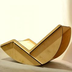 Pagliaro Rocking Chair; lasercut birch ply