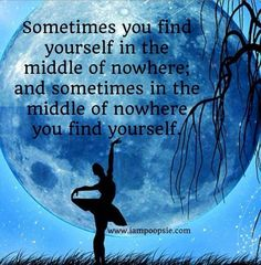Finding yourself quote via www.IamPoopsie.com