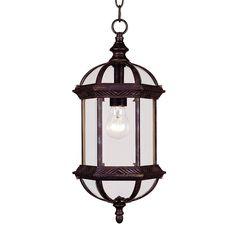 Anitra 18-in Rustic Bronze Outdoor Pendant Light