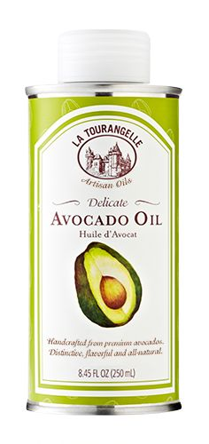 Avocado Oil -- Perfect for stir-frying, frying, sautéing, baking, dipping, blending into a dressing/sauce, or drizzling on a finished dish. Higher smoke point than EVOO -- 375ºF. Also, avocado oil contains oleic acid, a monounsaturated fat that may help to lower cholesterol.