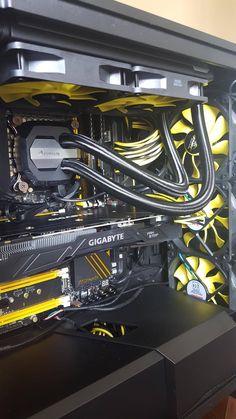 My black & yellow build - i7 6700k @4.6 GTX 1080 ASROCK Z170 OC Formula.