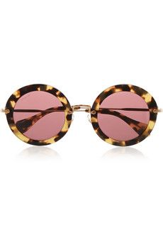 Miu Miu Round-frame acetate sunglasses | NET-A-PORTER